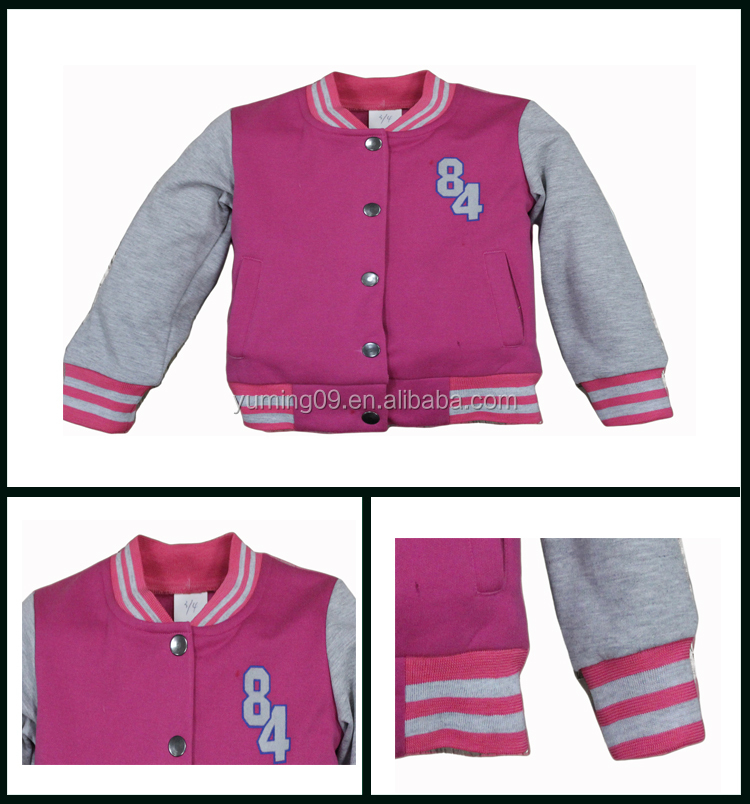 American girl's lovely baseball jackets