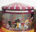 Carousel shaped gifts packaging tin box