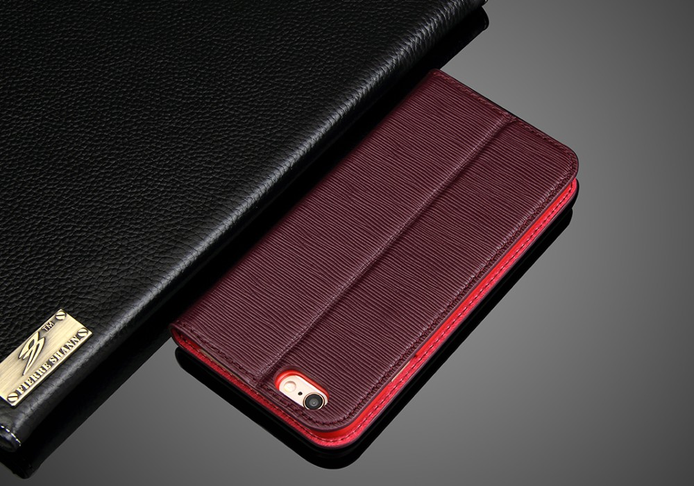 genuine leather case for iPhone 6 and iPhone 6s wallet case design with card slot