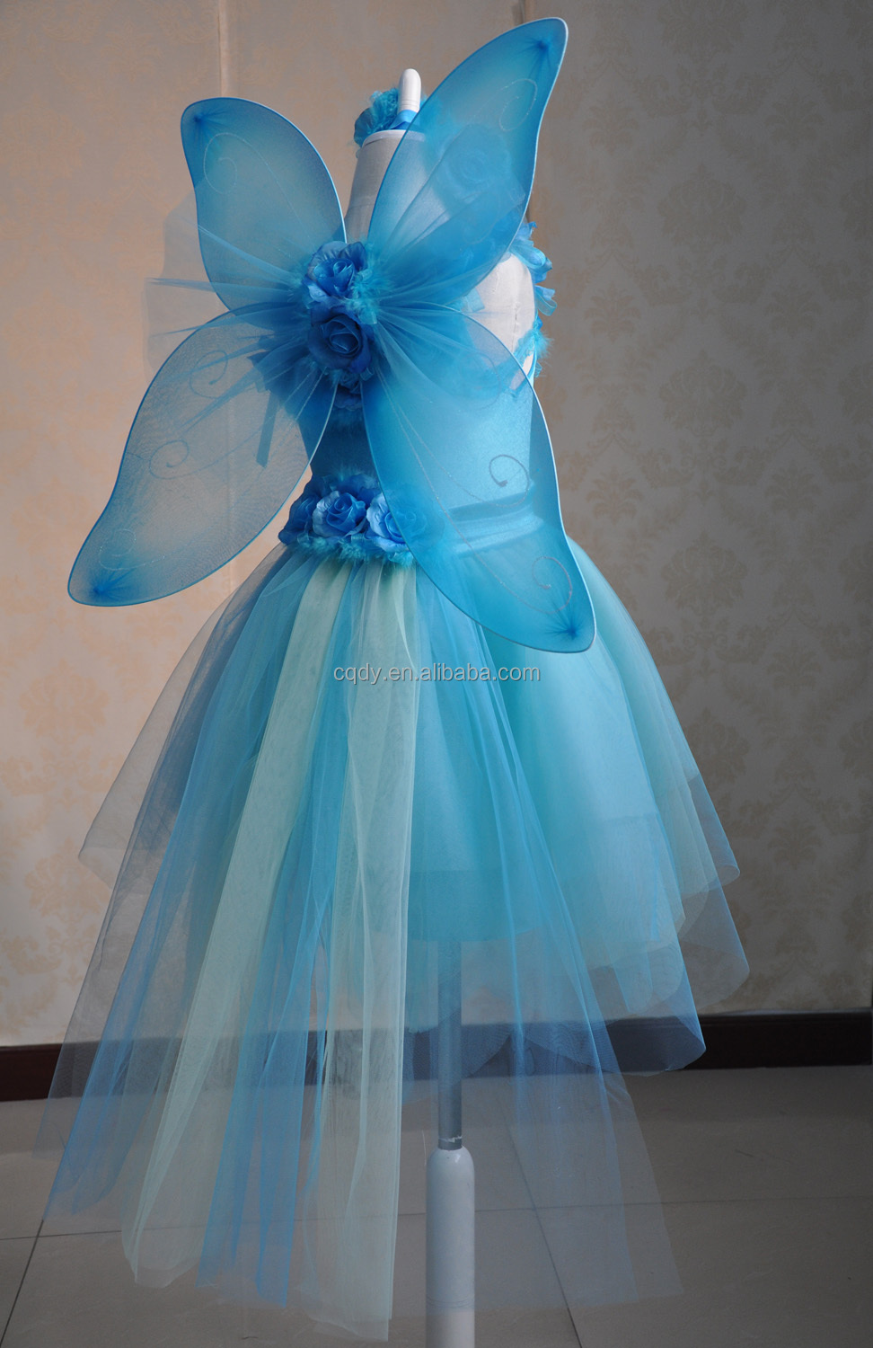 2015 Lovely children fairy dress with wings ,kids party wear dresses ...
