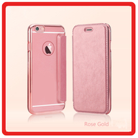 Electroplating leather ultra-thin TPU mobile phone case cover holster with card for iphone 6 6plus