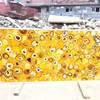 Backlit Yellow Semiprecious Yellow Gemstone Slab