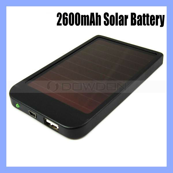 2600mAh Universal Sun Battery Panel Charger Portable Power Bank Power for Apple iPhone Samsung V8 Nokia and Sony Ericsson V3