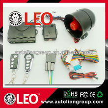 Universal one way talking car alarms system with optional remote control and good quality