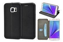 For Samsung Galaxy Note 5 wallet phone case, full curved slim leather phone case
