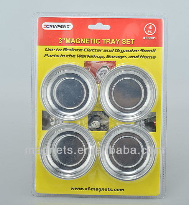 Magnetic parts tray set