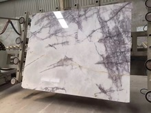 Hot sale white milas lilac marble slab for wall cladding