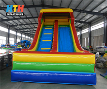 Commercial cheap double lanes inflatable bouncer slide