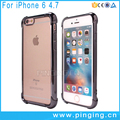 TPU bumper drop resistance electroplate case for cell phone cover for iphone 6 case cover
