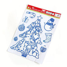christmas window sticker tile gel sticker mirror wall sticker