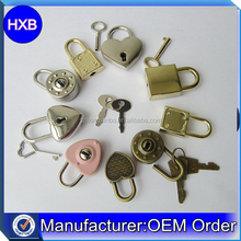 Hongxinbo Factory bulk price heart shape mini diary padlock with two keys for decoration