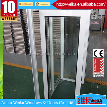 Double frame aluminum casement window mesh mosquito net insect screen window