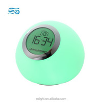 Color changing LED Night Light with clock diplay and alarm clock function