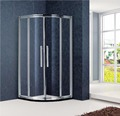 Aluminium Frame Adjustable Hidden Sliding Shower Door(KT6169)