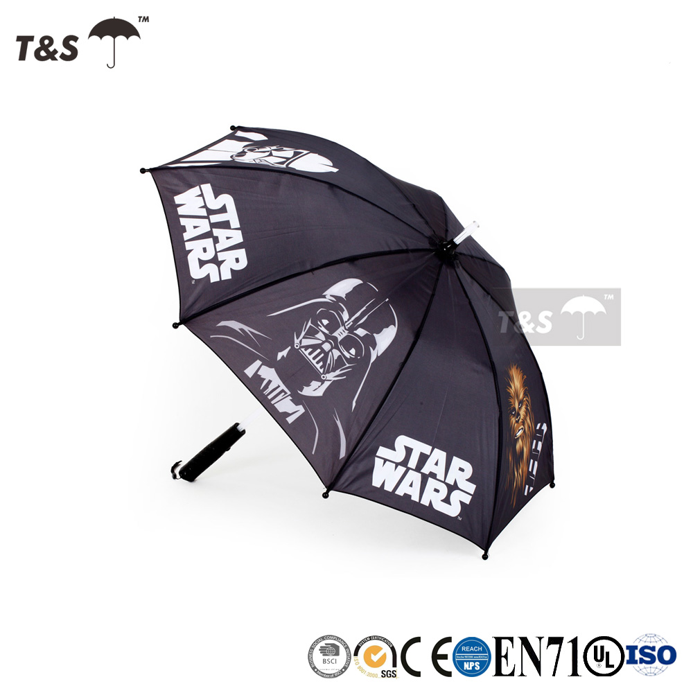 Tianshuo 2017 parasol sunshade custom waterfront outdoor lovely new product hot selling high quality kids light led umbrella