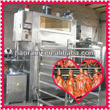 full automatic PLC screen smoking chicken equipment