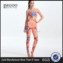 MGOO Youth Teenages Digital Print Crop Tops Bra Women Leggings Streetwear Sport Pants Bra