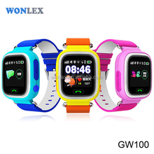 2016 High Quality Wonlex Brand Newest Smart Kids Watch gps for celular android & ISO