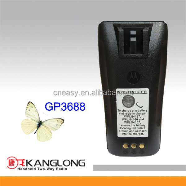 Walkie talkie battery for Motorola GP3688 replacement battery