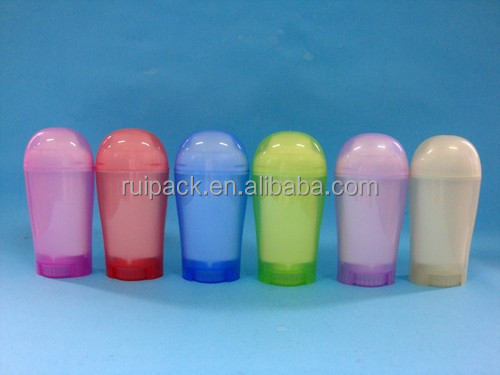50g plastic deodorant stick container, 2015 hot sale plastic deodorant stick tube, plastic cosmetic deodorant stick packing