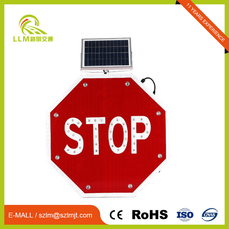 road safety sign board Flashing Led Stop Signs customized signs