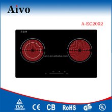 2016 Double Plate Infrared Cooker/Embeddable Two Burners Induction Hob/Electric Ceramic Stove A-EC2002