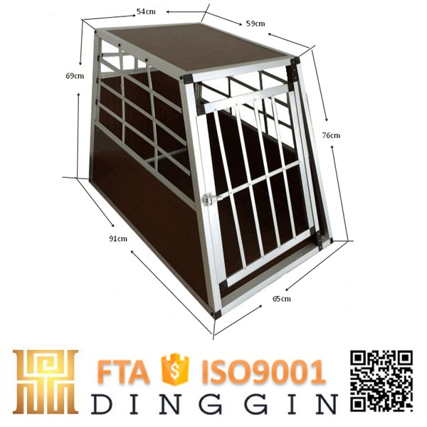 Prefabricated aluminum dog crate