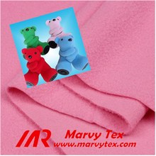 polyester filament yarn one side brushed 1 side anti-pilling polar fleece soft stuffed toy fabric