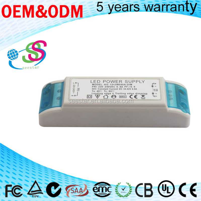 36W 900mA triac dimmable led driver switching power supply constant current with high pf pass CE EMC