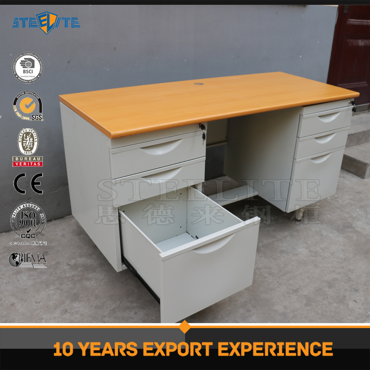 Hot sale simple design metal frame workstation office counter table/computer table/2 person office desk
