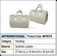 lady pu handbag (white)