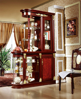 Glass Showcase U Shape Chinese Redwood divider Furniture