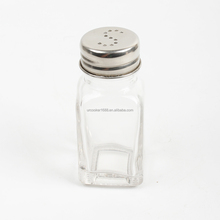 Best Selling Decorative Salt And Pepper Shakers Bulk Spice Glass Jar Supplier