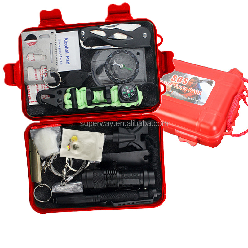 Hot sell emergency military tactical outdoor emergency survival kit