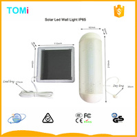 5 Led High Brightness Solar Led Wall Light Half Moon Glass Wall Light