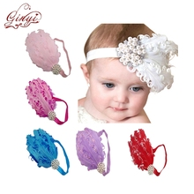 Wholesale Accessory Feather Flapper Baby Korean Headband