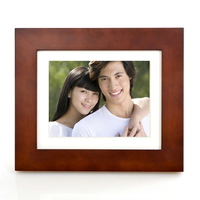 "Wooden 8"" 4GB Memory 800x600 Resolution Wi-Fi Digital Picture Frame with Hu-Motion"