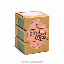 Custom logo small product kraft paper beauty sleeve soap packaging paper box printed wholesale