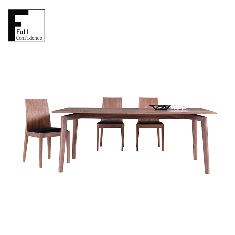 Walnut Solid Wood Dining Table/High Quality Dining Room Furniture Table 608T2.0
