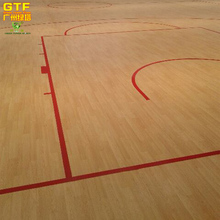 Indoor Vinyl Sports Flooring For Basketball Court PVC Maple Wood Flooring
