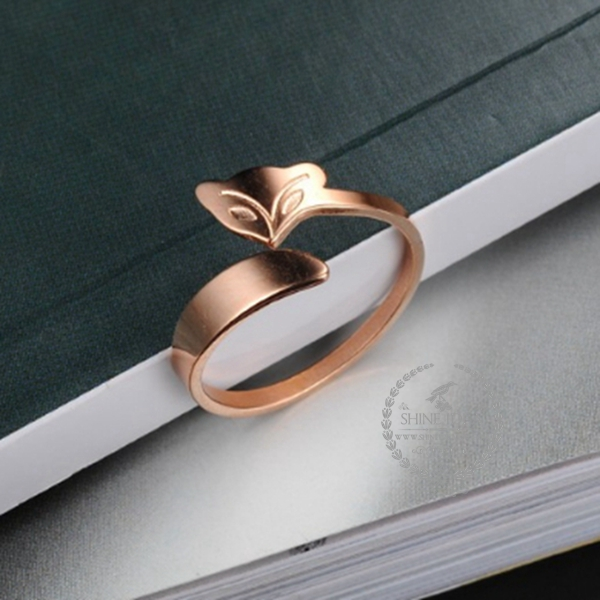 Rose gold plated stainless steel fox animal ring fashion women adjustable ring wedding jewelry 6210032