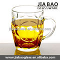 Hot sale large glass mugs beer transparent beer glass mug with handle