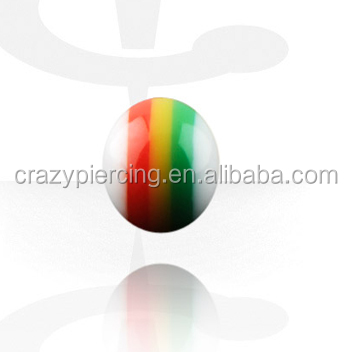 Different Colorful Popular Acrylic Replacement Ball Body Piercing Accessories