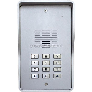 3G keypad audio intercom for 200 apartments multi- users door phone gate relay switch mobile entry access control dial to open