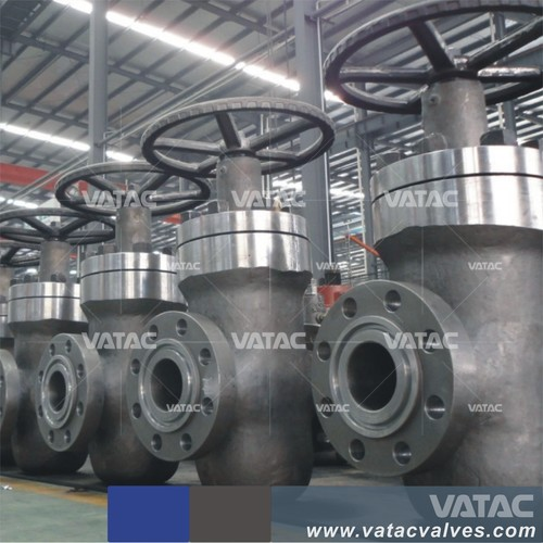 Full Opening Gear Operated WCB Double Expanding Gate Valve