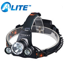3 LED Headlight 6000 Lumen XM-L T6 Head Lamp Rechargeable Headlamp