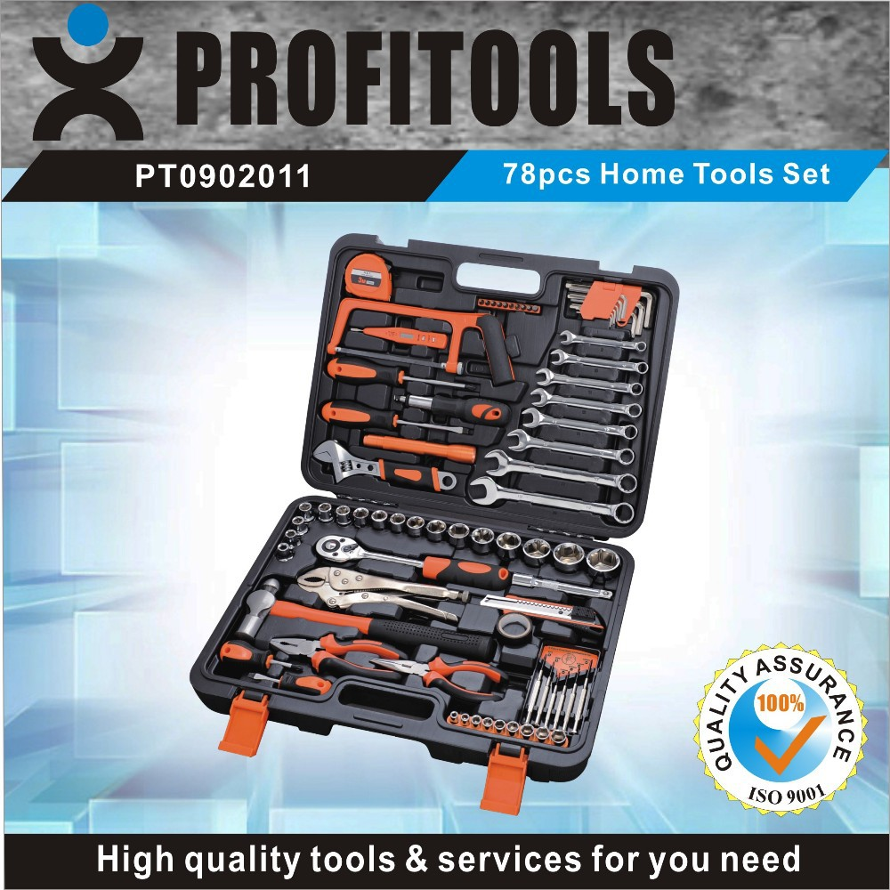 78pcs high quality electrical complete tool box set