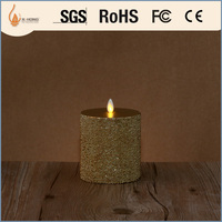 fragrance flickering color-changing led candle set with universal remote control