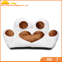 2015 high quality softable paw shaped dog bed