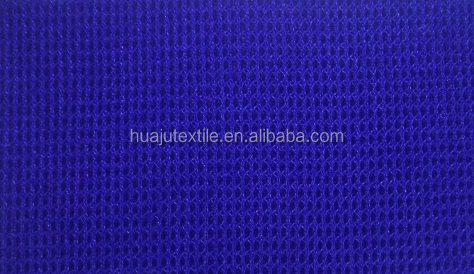 Practical Sofa 3D Air Mesh Fabric Double Quilted Ruffle Knitted Polyester And Linen Spandex Fabric For Car Cover